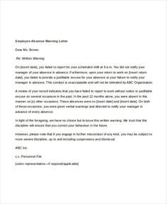 format for warning letter Employee Warning Letter Template - Free Word, PDF Format . Greeting Card Template, New Year Greeting Cards, New Year Greetings, Free Cover Letter, Cover Letter Design, Preparing A Business Plan, Professional Reference Letter, Letter Template Word, Estimate Template
