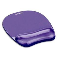 Purple Gel Crystal Transparent Mousepad and Wrist Rest