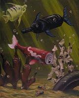 visual metaphor Two seemingly unrelated objects (fish/bottles & cans) sharing a commonality (in this case, the theme of pollution) Angst Quotes, Ocean Pollution, Water Pollution Poster, Visual Metaphor, Save Our Earth, Save Our Oceans, Plastic Art, Gcse Art, Environmental Art