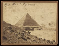 The pyramids of Giza, Egypt, circa 1865, photo by Francis Frith. Victoria & Albert Museum.