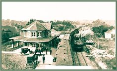 BRIGHTON, Ontario - Port Hope Railway station - vintage photo_edited Ontario, Train Stations, Canadian History, Canada, Abandoned Places, Architecture, Brighton, Vintage Photos, Trains