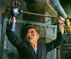 A lady can dream to have Tony like this.... TONY STARK IRON MAN 3 :)