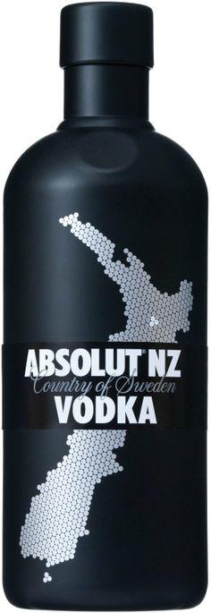 Absolut NZ | Regular Absolut vodka | Limited edition cover (New Zealand) | Special bottles