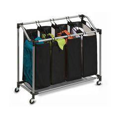 Mesh Laundry Sorting Cart