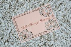 Emplacement de table de mariage, en métal