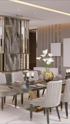 Home Room Design, Dining Room Design, Living Room Interior, Interior Design Living Room, Living Room Furniture, Luxury Interior Design, Interior Home Decoration, Interior Design Color Schemes, Design Homes