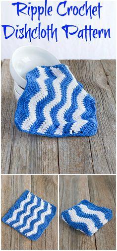 Ripple Crochet Dishcloth Pattern Crochet Dishcloth PatternTo Beautify Your Kitchen