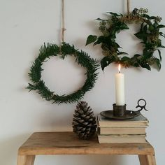 DIY rustic Christmas wreaths from Harry & Frank Rustic Christmas, Simple Christmas, Christmas Diy, Christmas Wreaths, Navidad Natural, Good Morning Everyone, Thank You So Much, How To Make Wreaths, Happy Monday