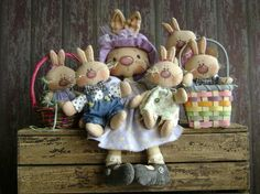 CF261 Wabbits Here Wabbits There  PDF ePattern by CatAndTheFiddle