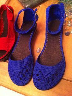 crochet shoes flip flop sole - Google Search