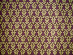Fleurs Stylisées Vertes sur fond Chocolat - 2m80 Largeur : Tissus pour rideaux, voilages par route-des-tissus
