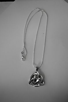 silver necklace with Trinity symbol by Adorato on Etsy, $14.95