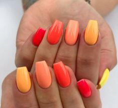 Nails Summer manicure trends and new nail polish colors to try - -. - Nails Summer manicure trends and new nail polish colors to try out – – out - Simple Acrylic Nails, Summer Acrylic Nails, Best Acrylic Nails, Spring Nails, Summer Shellac Nails, Aycrlic Nails, Gradient Nails, Diy Nails, Coffin Nails
