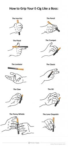What does your e-cig grip say about you? | How to Grip an E-Cig Like a Boss || Go Vape http://govape.me/