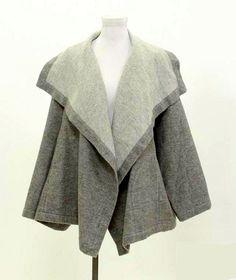 eecf7fce9e Shirin Guild Jacket (Heather Grey Cashmere   Linen Draped Open Front Coat