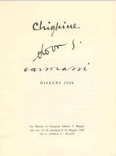 Alfredo CHIGHINE, Gianni DOVA, Arturo CARMASSI. Disegni 1956. Milano, Galleria dell'Ariete, (Catalogo n. 11), 1956