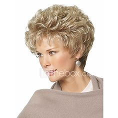 Short Pixie Choppy Cut Synthetic Hair Wavy Women Wigs 10 Inches Sure, the bushy perms of the mig Short Permed Hair, Short Grey Hair, Short Wigs, Permed Hairstyles, Short Blonde, Short Hair Cuts, Pretty Hairstyles, Blonde Hair, Short Pixie Haircuts