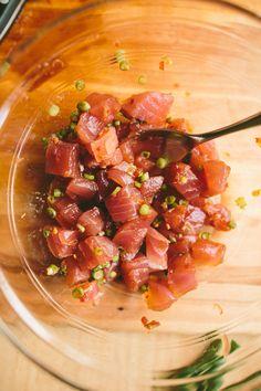 Ahi Tuna Poke Bowl - A Thought For Food