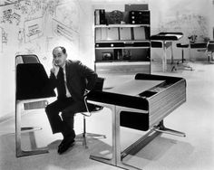 George Nelson died in New York in His archive belongs to the holdings of the Vitra Design Museum. George Nelson, Furniture Ads, Furniture Companies, Office Furniture, Plywood Furniture, Furniture Dolly, Vintage Furniture, Mid Century Modern Design, Mid Century Modern Furniture
