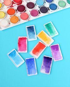 Mod Podge Watercolor Magnets @linesacross