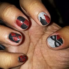 Oooh! Harley Quinn nails