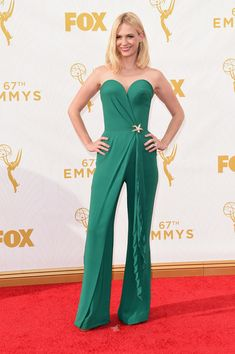 Actress January Jones attends the 67th Annual Primetime Emmy Awards at Microsoft Theater on September 20, 2015 in Los Angeles, California.