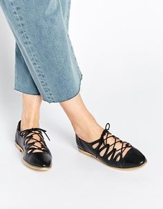 ASOS MISTY Leather Flat Shoes