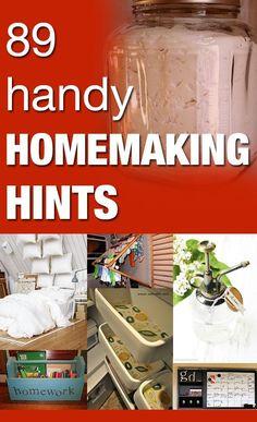 89 Handy Homemaking Hints