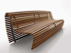 Original design bench / teak / with backrest / by Naoto Fukasawa - TITIKAKA - B&B Italia - Videos
