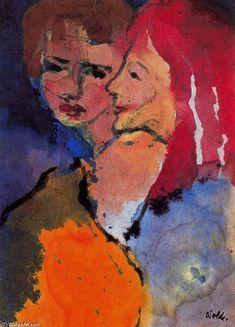 Emil Nolde >> Dos Damas  |  (, obra de arte, reproducción, copia, pintura).