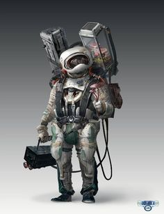 Ang Chen We decided to do a more basic normal astronaut look for the main character, as he goes through the game he might have new things to change his look Character Concept, Character Art, Concept Art, Character Design, Science Fiction, Cosmos, Chen, Types Of Armor, Combat Armor