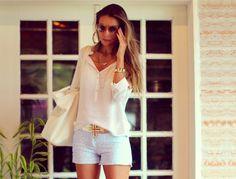 look-com-shorts-e-camisa | Blog de Moda e Look do dia - Decor e Salto Alto