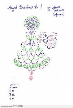 Angel bookmark 1 - Free Original Patterns - Crochetvill…