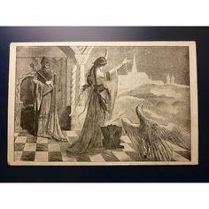 Mikoláš Aleš - pohlednice Venušina věštba, Přísaha lidu československého 1918 Painting, Art, Postcard