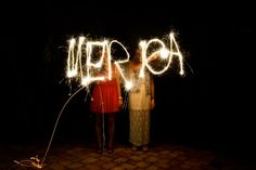 On the Fourth, we had so much fun playing with sparklers. We skipped watching fireworks altogether, although there were plenty to be heard in the neighborhood. Right before dinner, we made an emergency run down to the place where they were selling fireworks and picked up a giant pack of sparklers. We decided to spell...