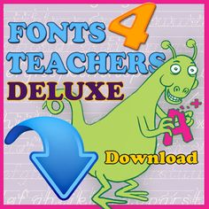 Now with 26 MORE Fonts! Quickly Create a Variety of Handwriting, Spelling & Penmanship Lessons! The new Fonts 4 Teachers Deluxe easily generate. Special Education Teacher, Teacher Resources, Teacher Fonts, Teacher Stuff, Classroom Organization, Classroom Management, Teaching Kindergarten, Kindergarten Readiness, Preschool