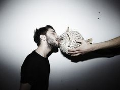 PAPERMAG: Xavier Dolan Making Out With a Fish? Xavier Dolan Making Out with a Fish!