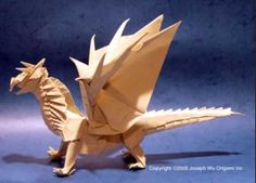 Origami dragon this looks so awesome