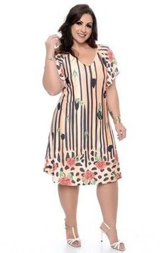 Vestido Plus Size Sheile Plus Size Summer Dresses, Plus Size Cocktail Dresses, Plus Size Outfits, Elegant Dresses, Casual Dresses, Fashion Dresses, Look Star, Plus Size Fall Fashion, Curvy Girl Fashion