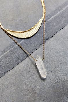 Urban Outfitters Collective Crystal Layer Necklace. Find It On ShopStyle