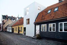 Fin kontrast i Landskrona. Av arkitekten Elding Oscarsson.