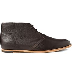 Opening Ceremony - dark brown M1 leather desert boots from with flat light brown leather soles and full leather lining