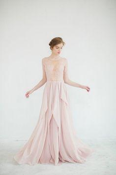 blush pink wedding gown 1