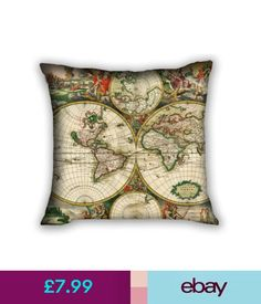 Google map pin green pillows pinterest tolulu cushions ebay home furniture diy cushions hot vintage world map gumiabroncs Gallery