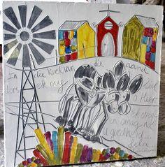 Val du Charron Home Afrikaans, Close Image, Art For Sale, Collage Art, Canvas Art, Letters, Arrow Keys, Donkey, Crafts