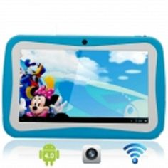"""7"""" Capacitive Touch Screen A13 Android 4.0 4G Children Kid Tablet PC with Camera"""
