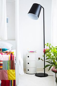 Kartell Componibili unit as a bedside table.