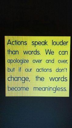 speak through your actions