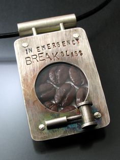www.michaeltheestudio.com  coffee emergency necklace