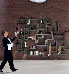 Simple and Creative Wall Modular Shelving System, LagoLinea by Daniele Lago - Home Design Inspiration Wall Shelving Units, Modular Shelving, Wall Mounted Shelves, Shelving Ideas, Storage Ideas, Cool Shelves, Unique Shelves, Bibliotheque Design, Living Room Shelves